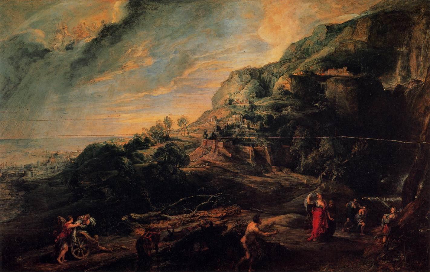 1630 Peter Paul Rubens Ulisse Nellisola Dei Feaci 1630 35 Galleria Palatina Palazzo Pitti Firenze
