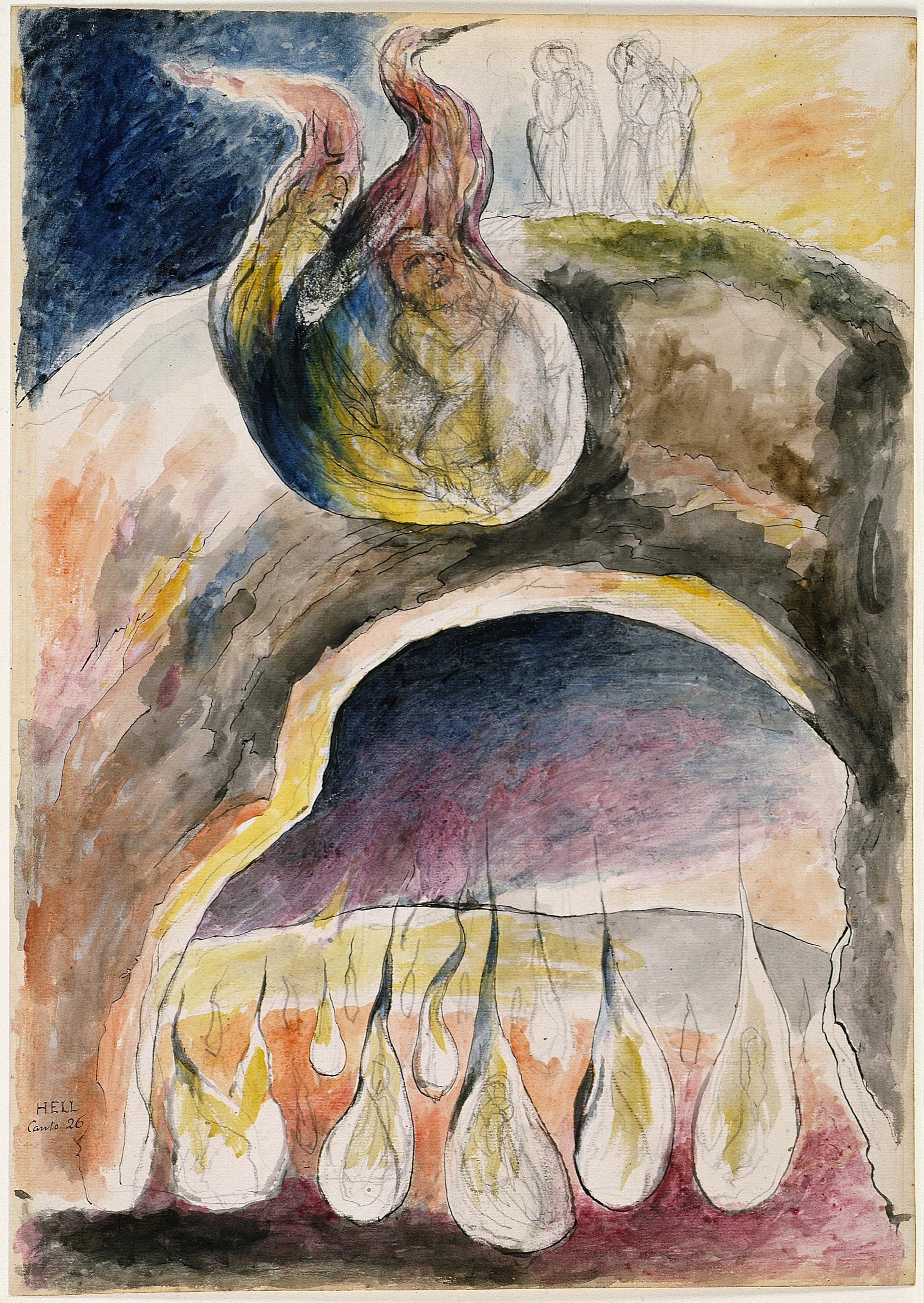 1824 27 William Blake Ulisse E Diomede Inferno Xxvi 1824 27 Tate